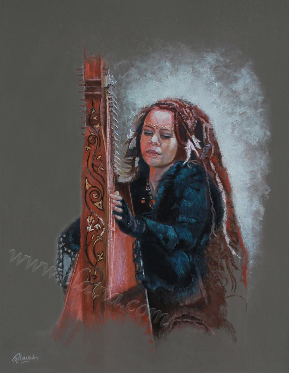 La Fille à la harpe
