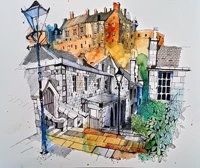 Edinborough Castle from The Ve