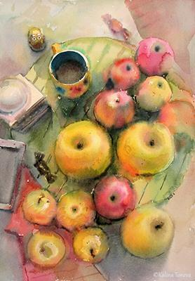Apples Watercolor 2015
