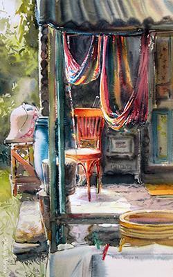 Around noon Watercolor 2016