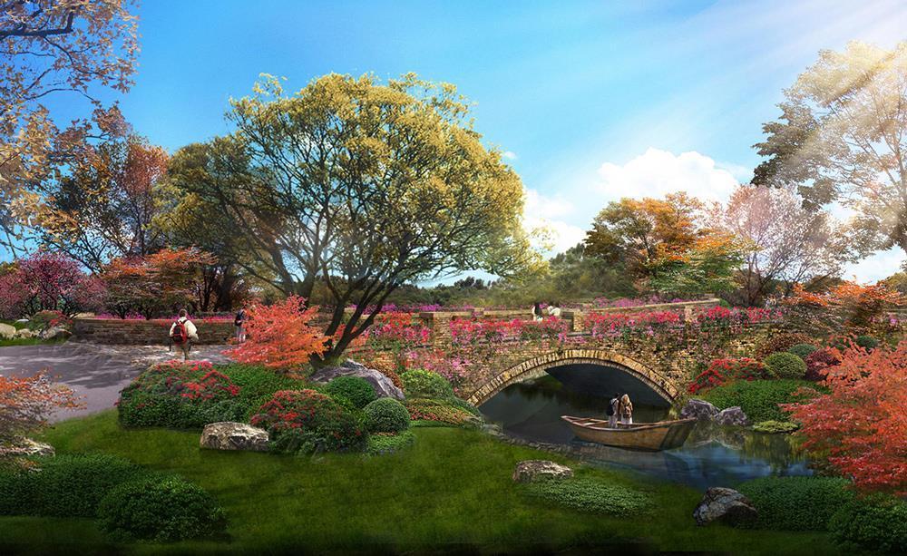 中国-玫瑰谷-欧式石桥