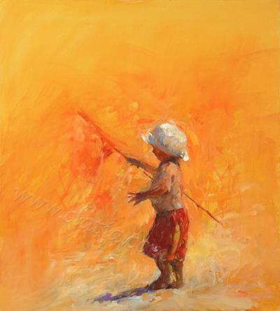 Flagbearirer , oil on canvas