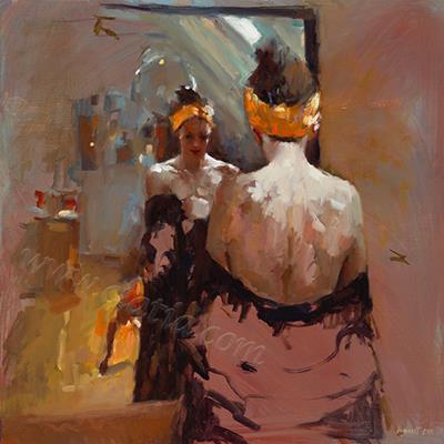Mirror, Mirror , oil on canvas