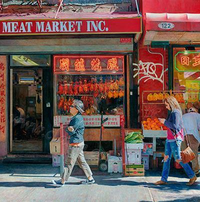 Meat Market-oil on board