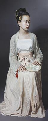 宋装女子 布面油画