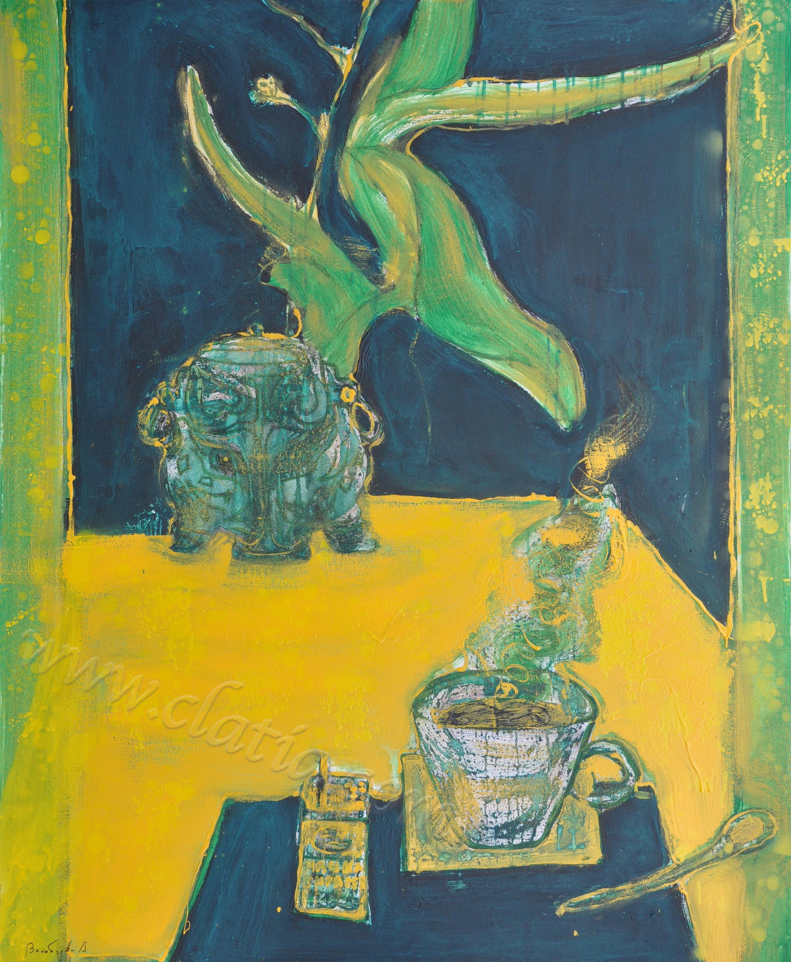 Зеленый чай х.м.110х90 2019