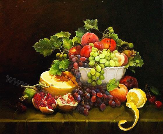 丰收的季节 - 亚麻布面油画