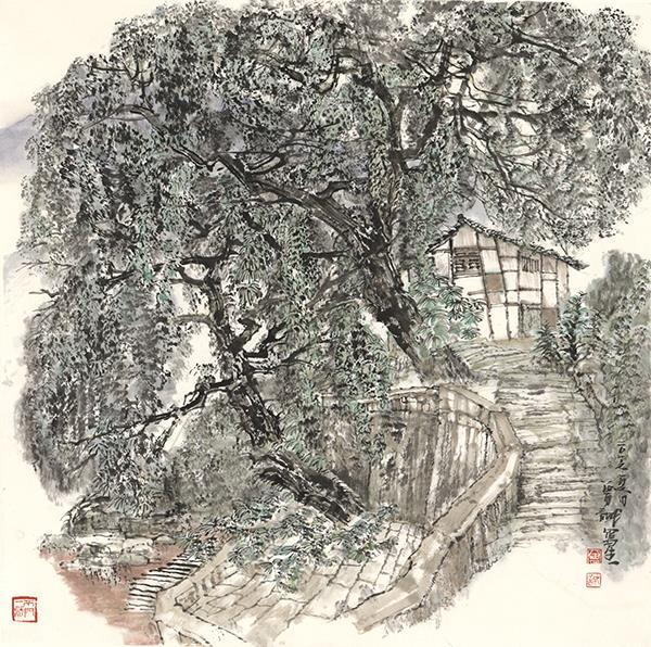 贵州大同古镇写生之一