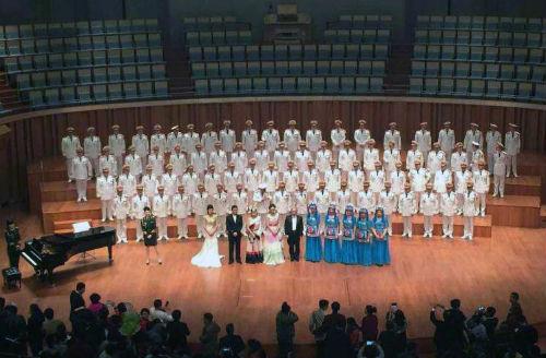 武警男声合唱团唱响国家大剧院