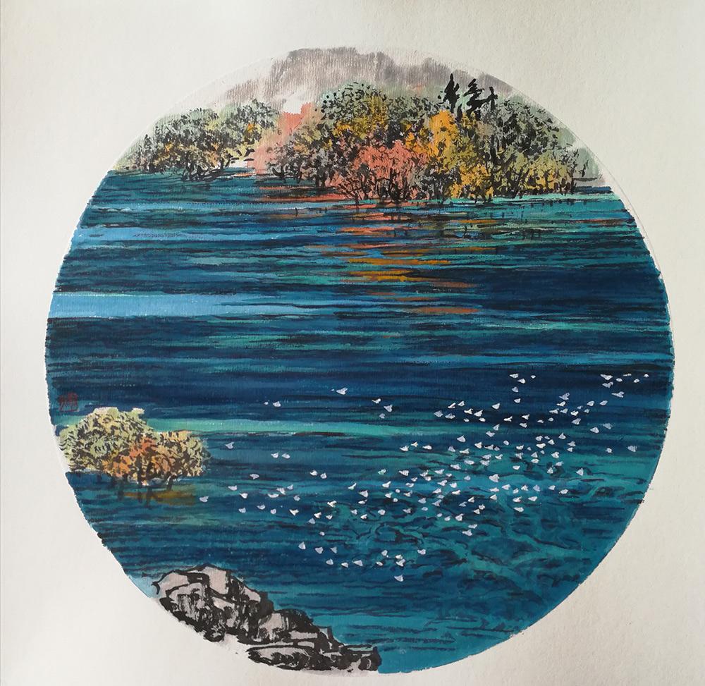 她从九寨走来,向欧洲走去——山水画家 冷蓉