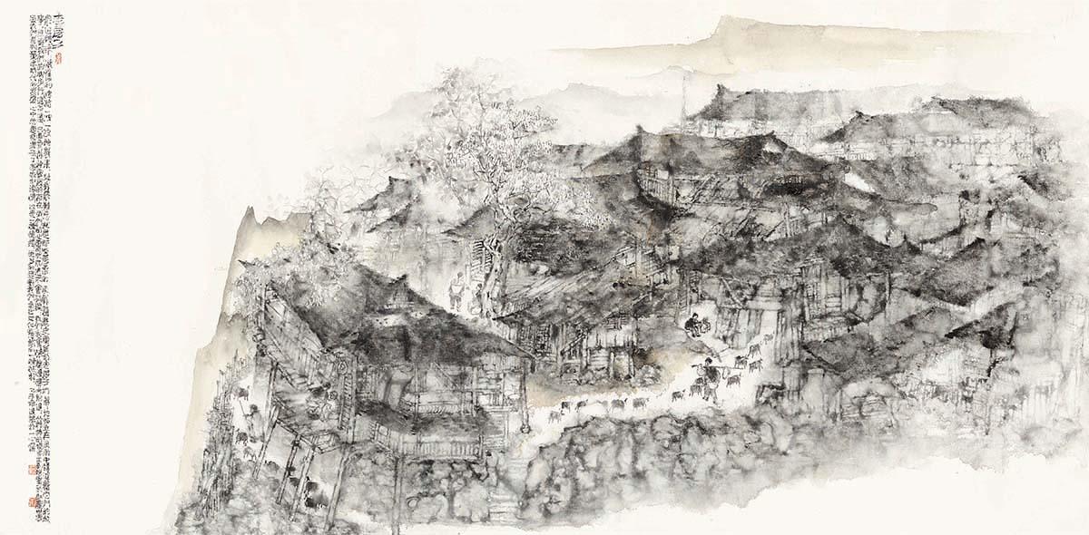 沧桑的热度——读赵建华的《老房子系列》