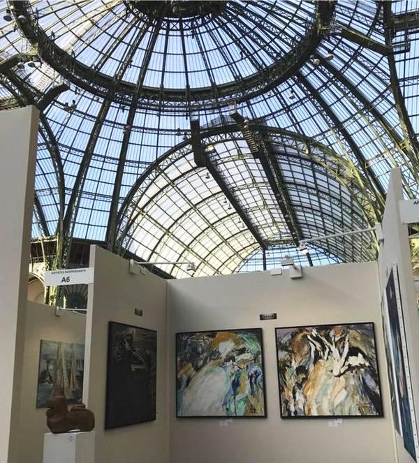 中国艺术家柳旭日在第三十六届韩国国际美术展荣获金制大奖