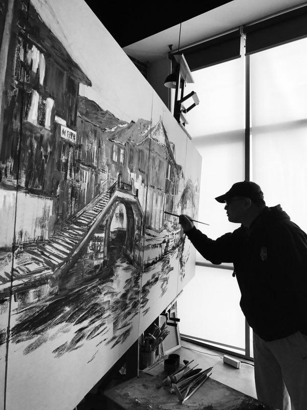留法画家柳旭日:艺术是民间交流互通的绝佳方式